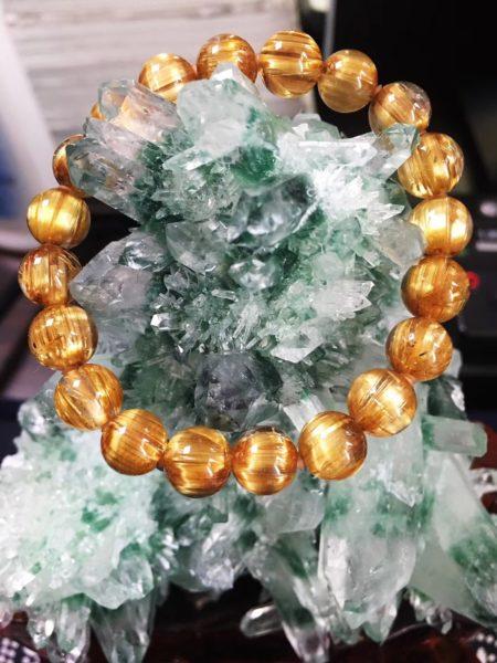 钛晶、绿幽灵摆件、琥珀戒指、绿松小猫🐱-返图-菩心晶舍