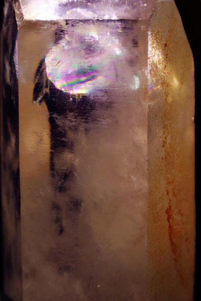 白水晶簇-内含一座彩色的金字塔-菩心晶舍