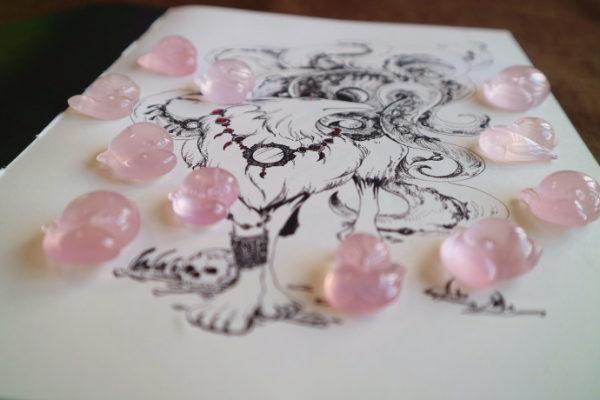 菩心的粉晶—灵气小狐狸,一直是个小网红-菩心晶舍