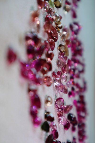 【碧玺细链|18k】 精挑堪比红宝石色的碧玺裸钻-菩心晶舍