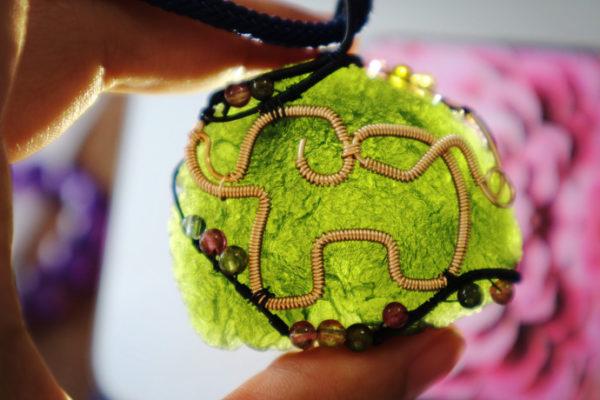 【捷克陨石项链吊坠】 大象,吉祥与力量的象征-菩心晶舍