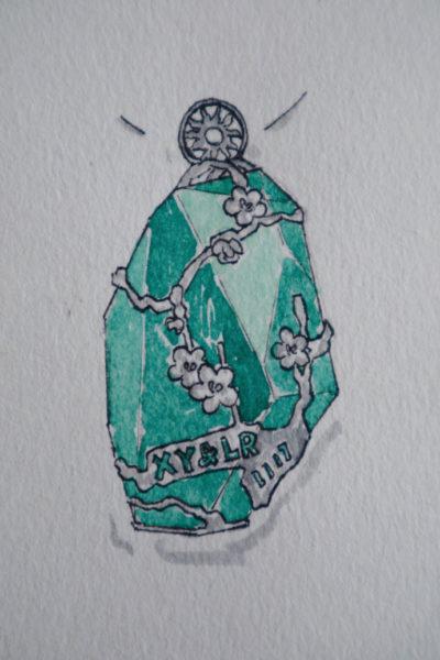 一枚龙凤胎宝宝的胎毛设计-菩心晶舍