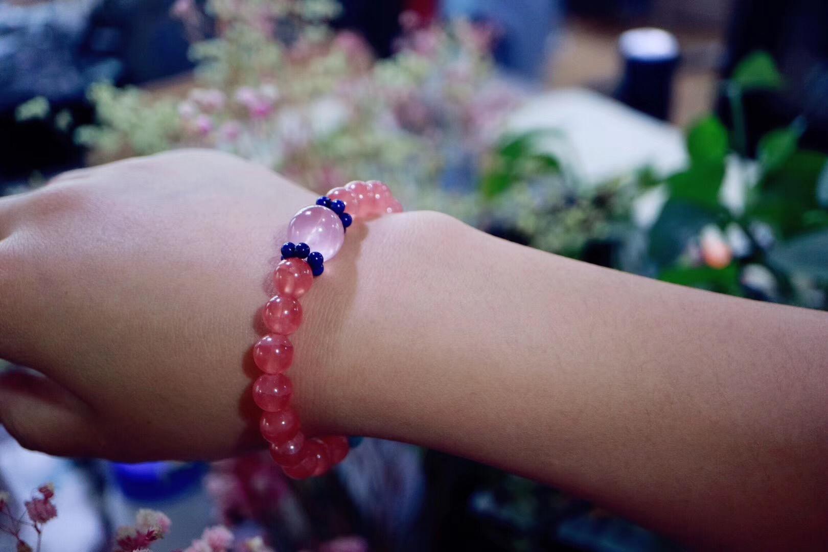 【菩心 | 冰种红纹石】 和喜欢的人在一起, 世界都是美好的-菩心晶舍