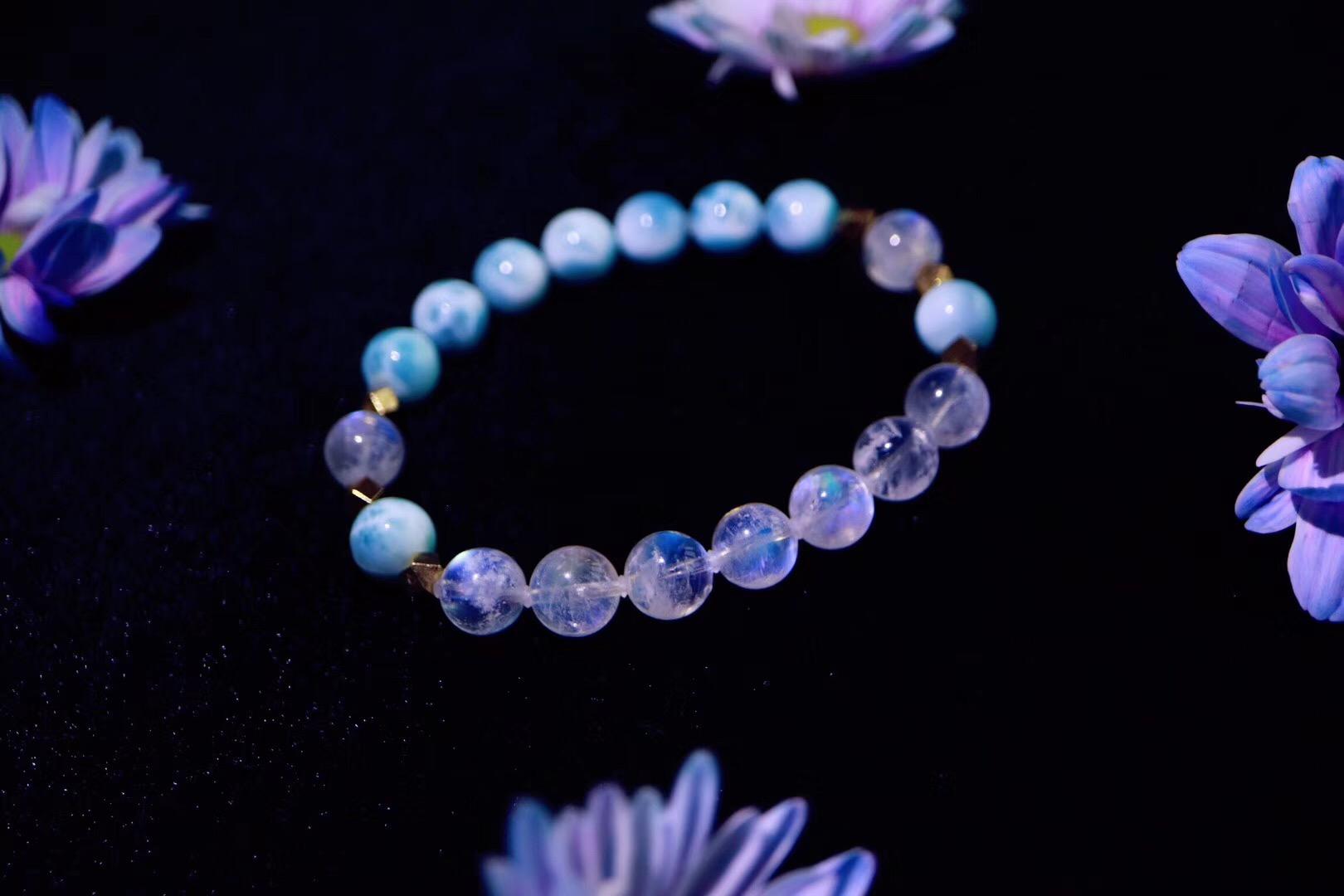 【菩心海纹石   月光石】海纹石是治愈系能量宝石的代表之一-菩心晶舍