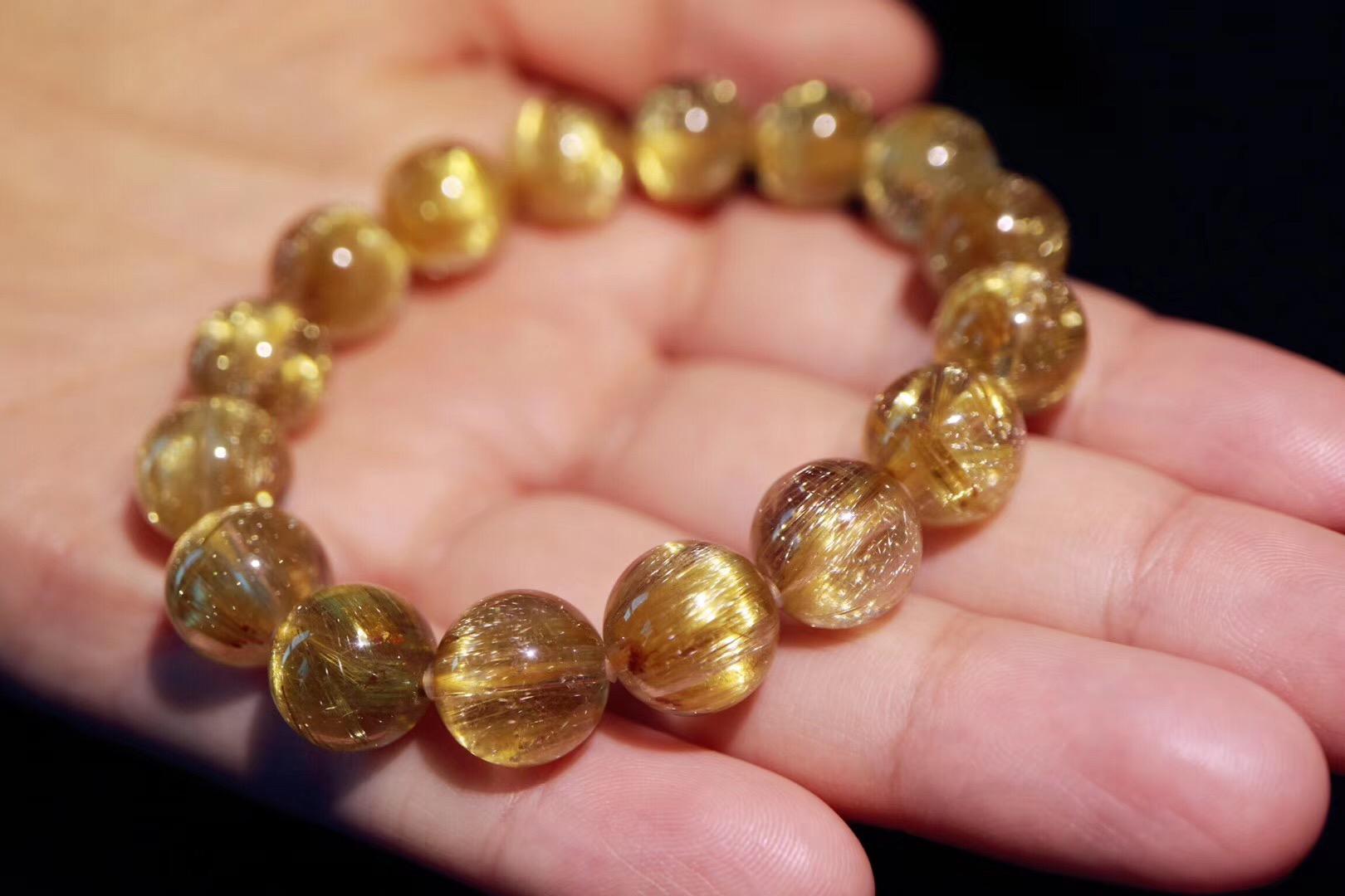 【菩心 | 钛晶】钛晶手链的金色光芒犹如小太阳般有力量-菩心晶舍