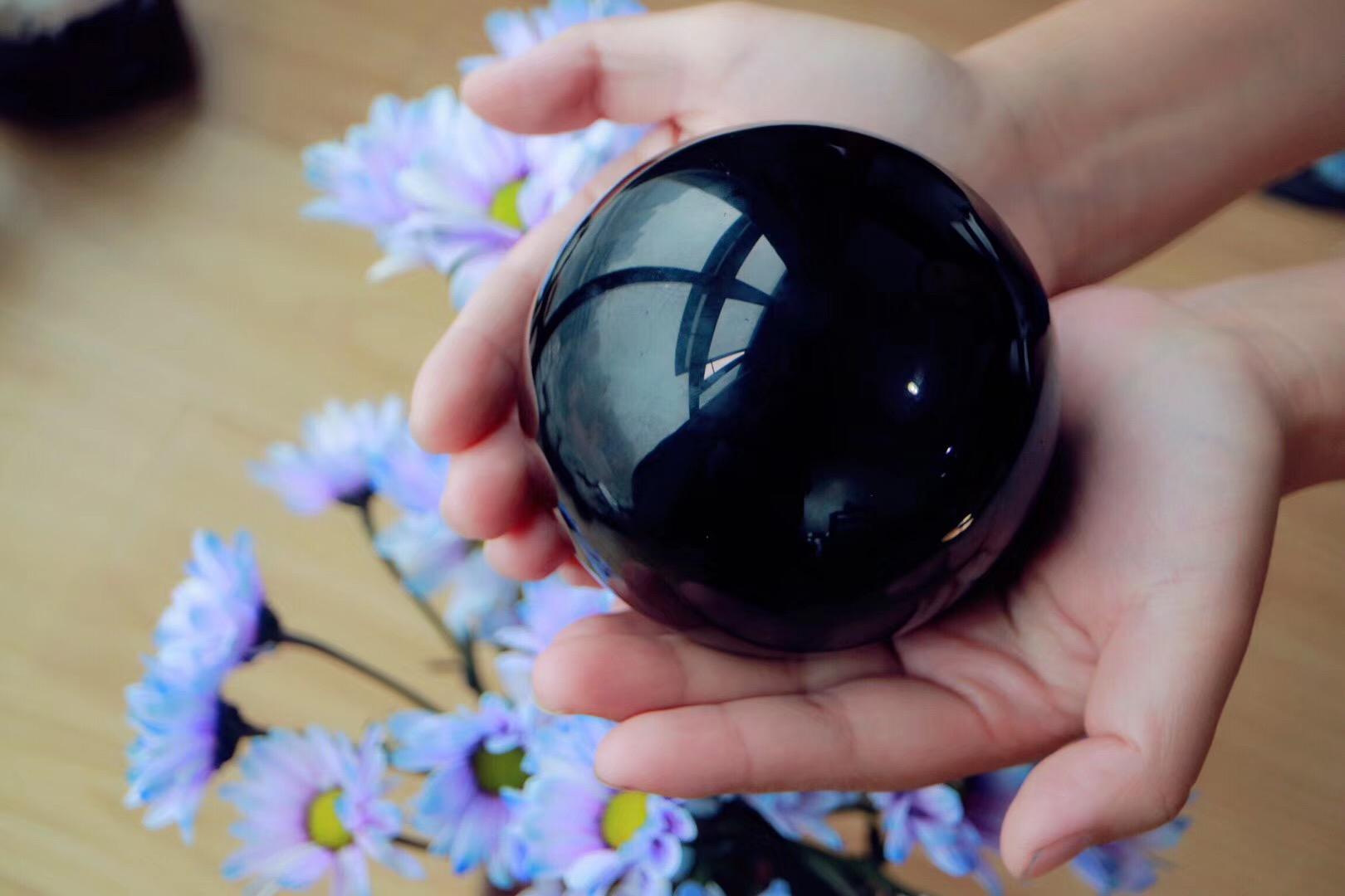 【菩心   黑曜石球】被如此有魅力的双眼紫眼迷住了-菩心晶舍