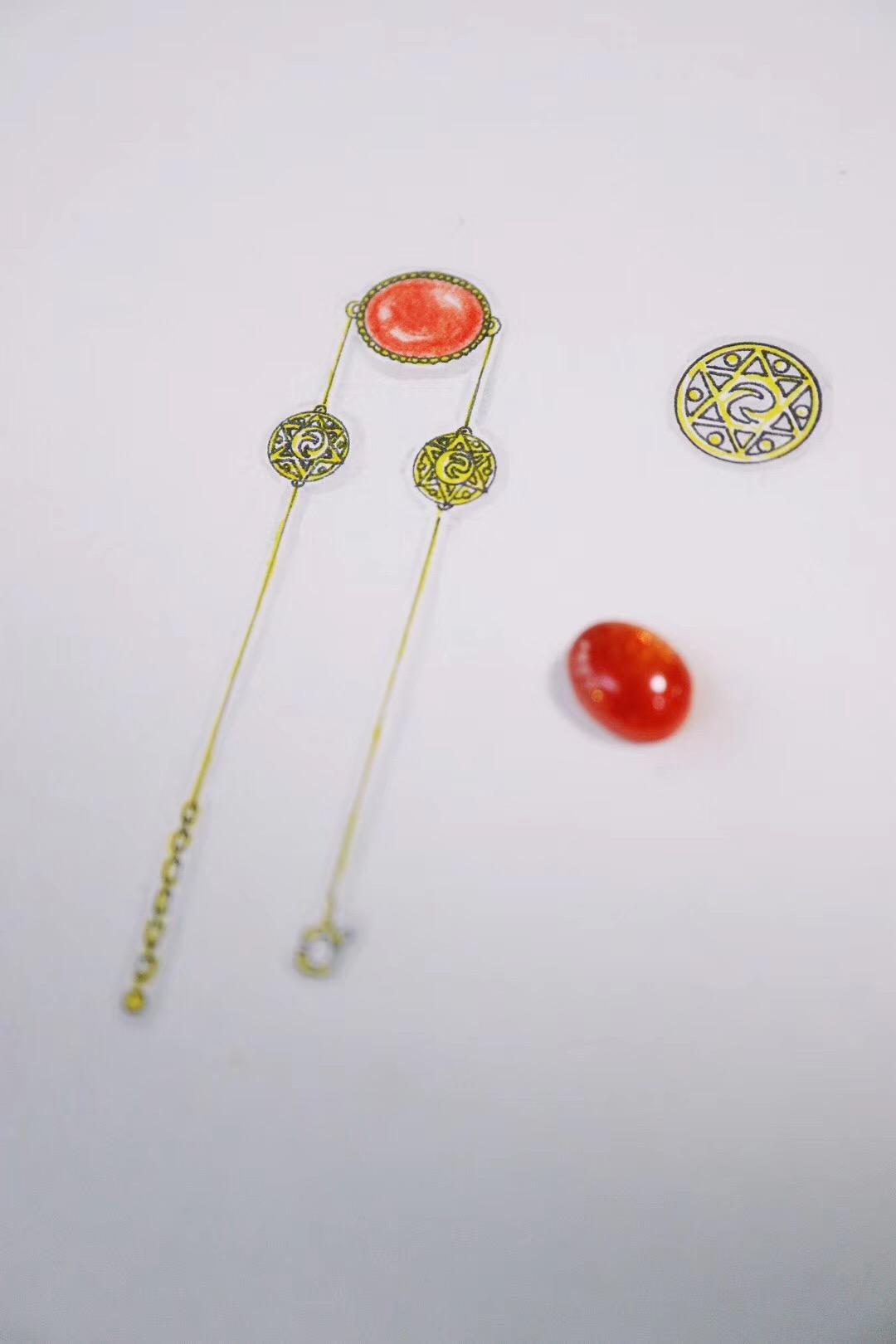 【菩心·太阳石-细链】一款颇有禅意的太阳石细链设计-菩心晶舍