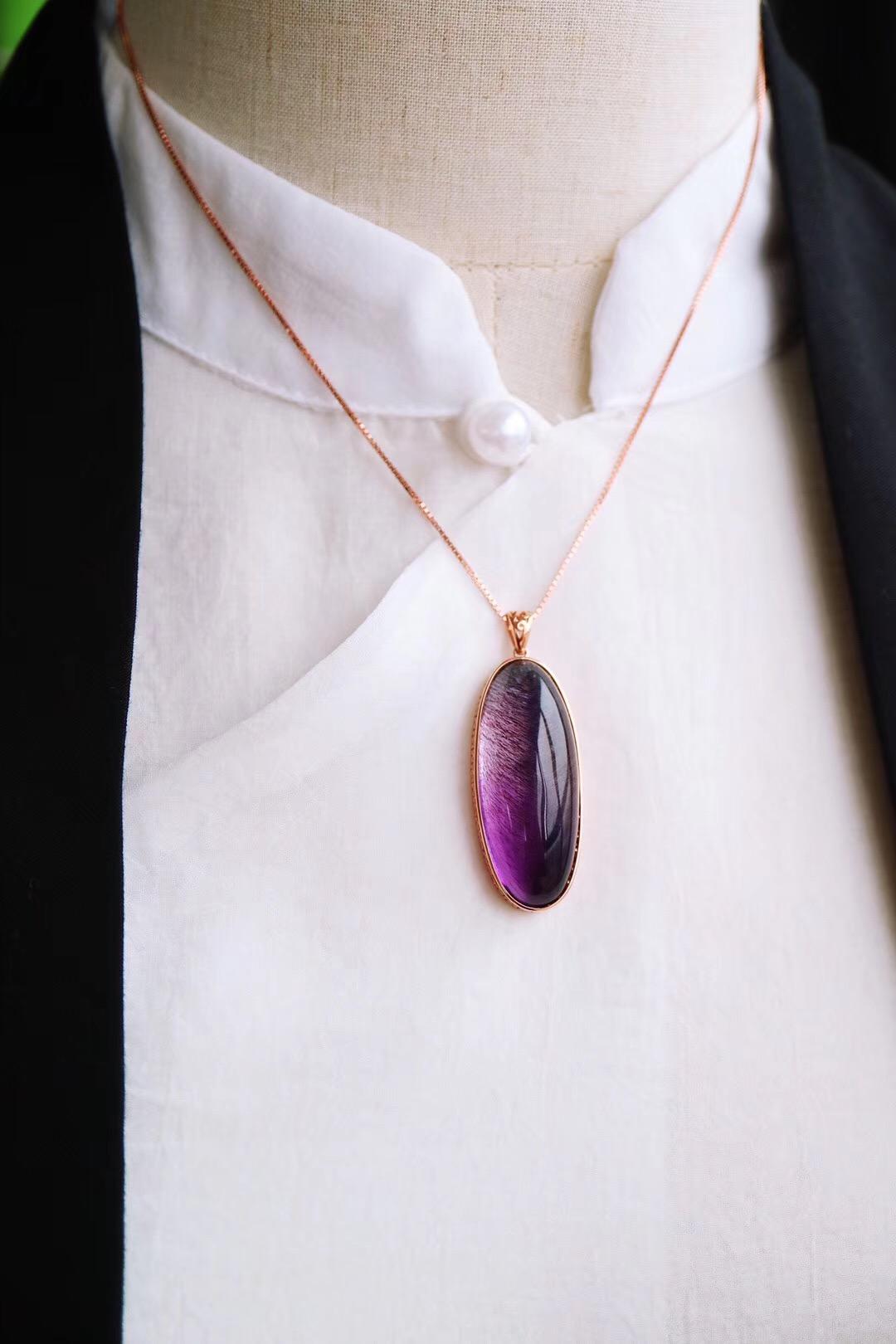 【菩心-超七紫发晶】可助佩戴者拥有更多的灵感-菩心晶舍
