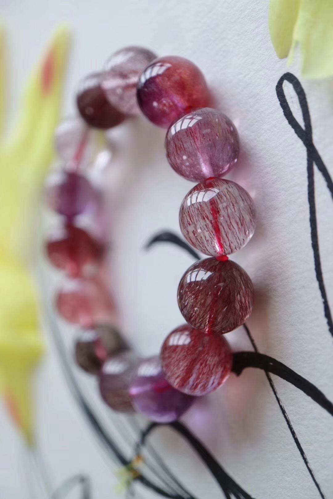 【菩心 | 超七紫发晶】这是一款灵力值爆表的紫发晶-菩心晶舍