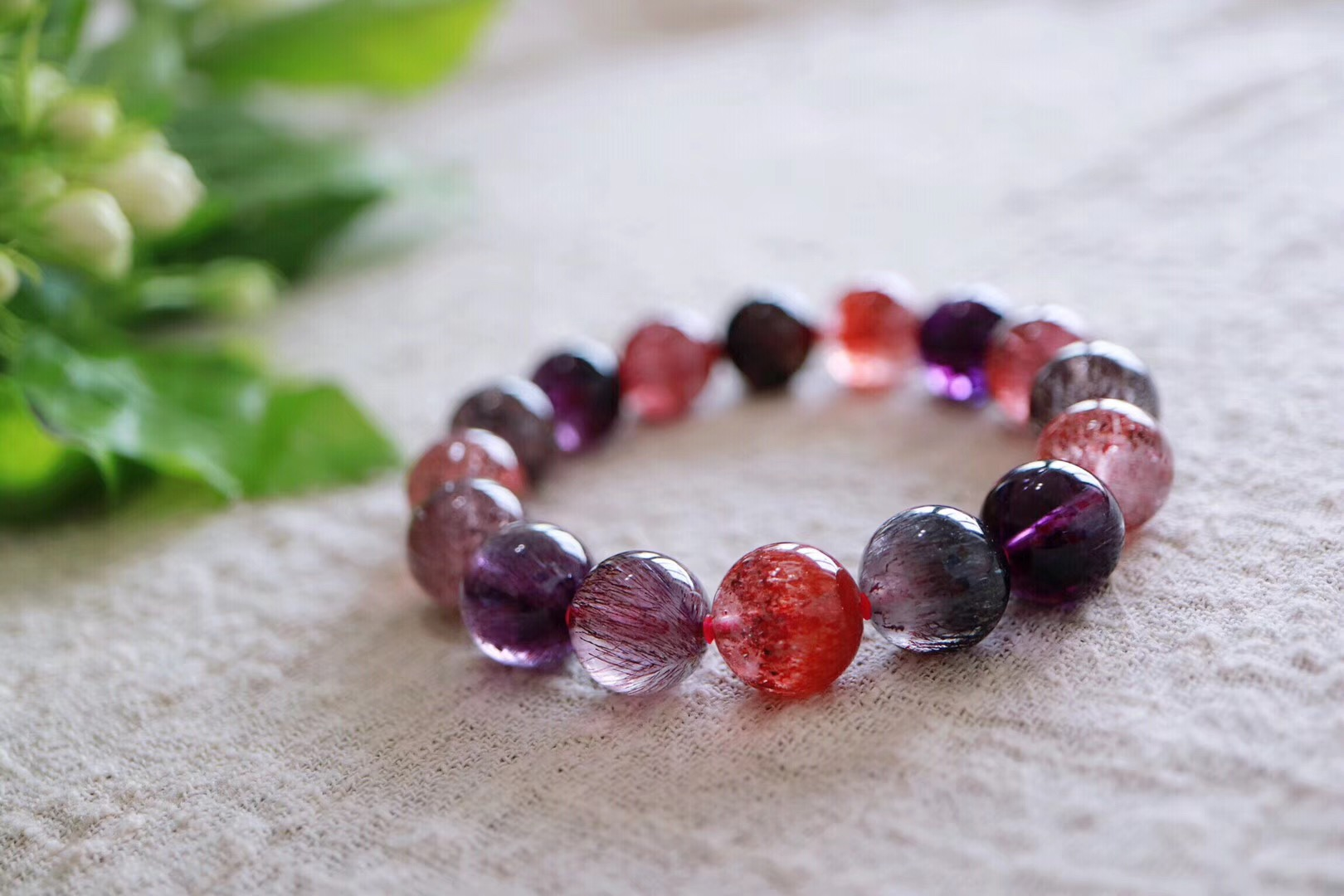 【菩心 | 超七紫发晶】浪漫且梦幻的紫发晶,沉淀物满满-菩心晶舍