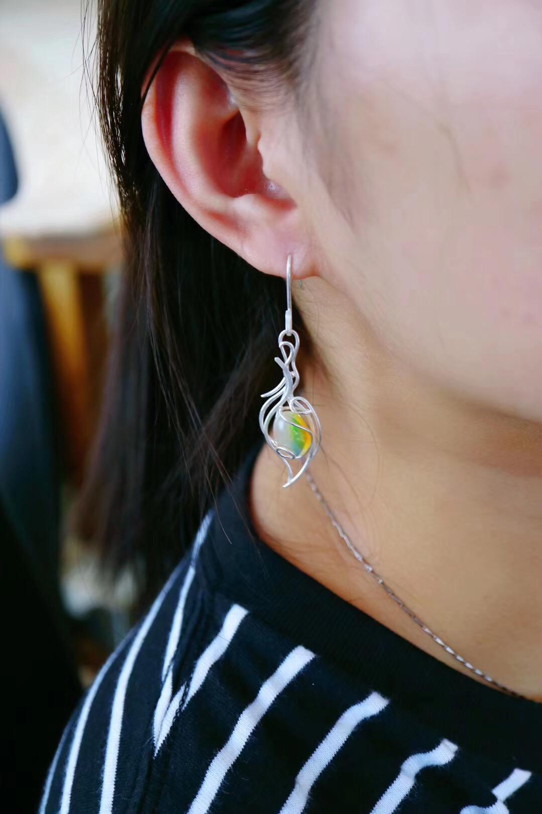 【菩心-欧珀耳坠】欧珀,代表幸福的宝石-菩心晶舍