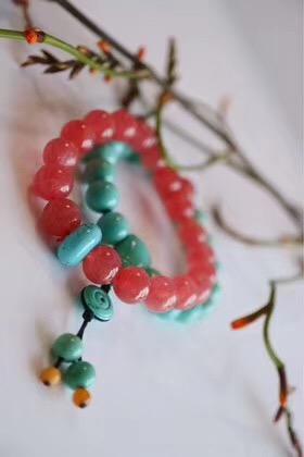 【菩心-原矿绿松石、红纹石】都是美的。不比较,自欢喜-菩心晶舍