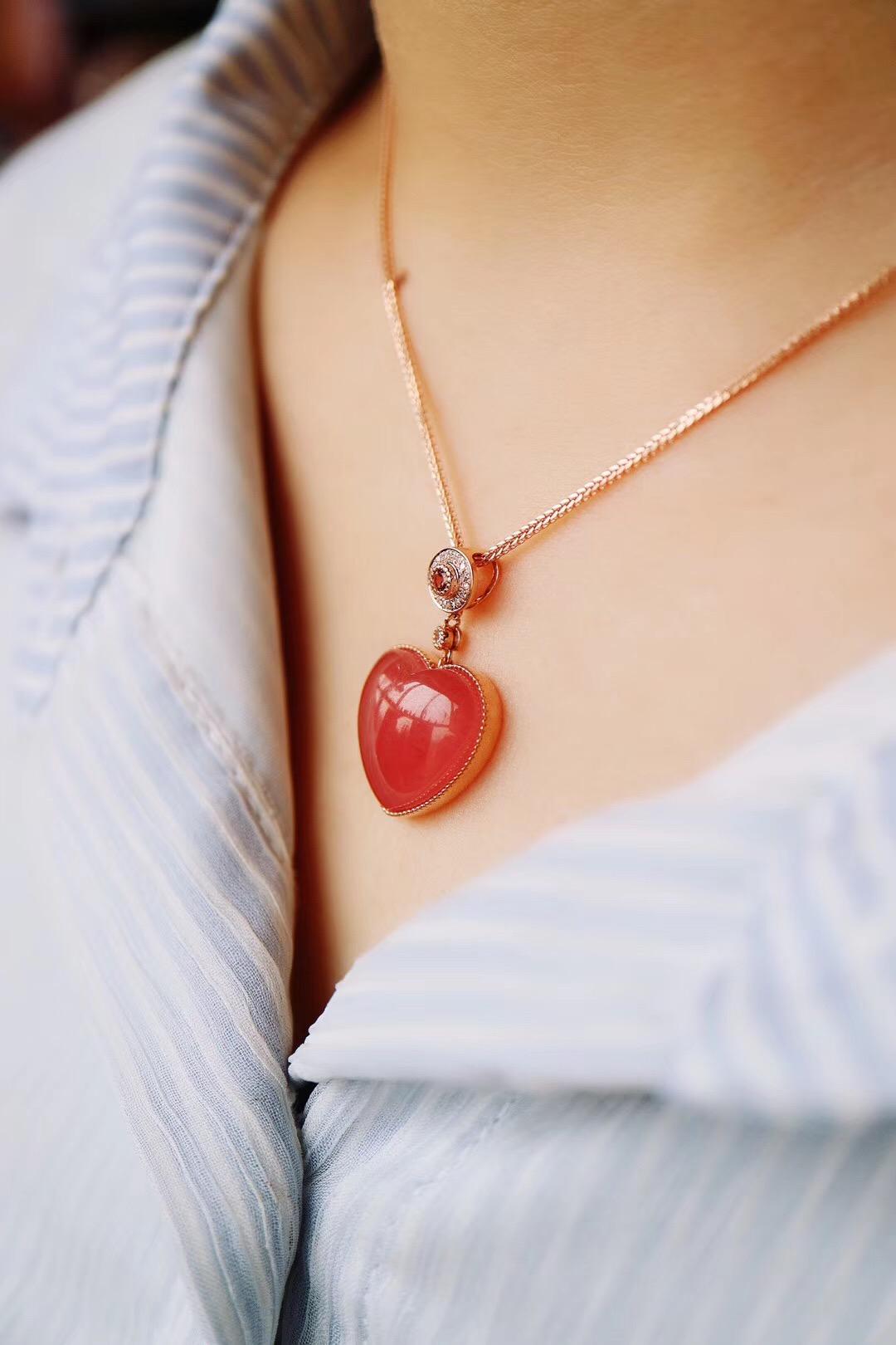 【菩心-红纹石】红纹石,是无论如何设计,都不会有审美疲劳的一种晶石-菩心晶舍
