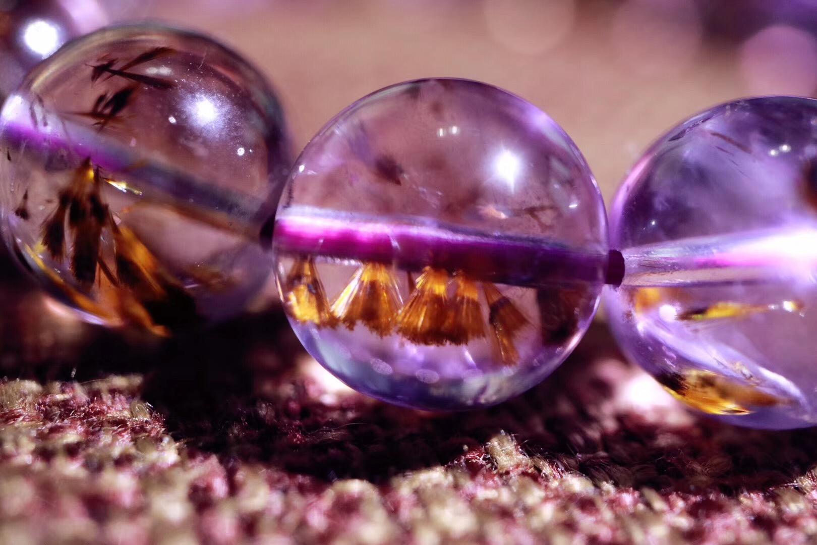 【菩心 | 紫钛晶】紫钛晶,兼顾了紫水晶的紫气东来和钛晶的招财-菩心晶舍