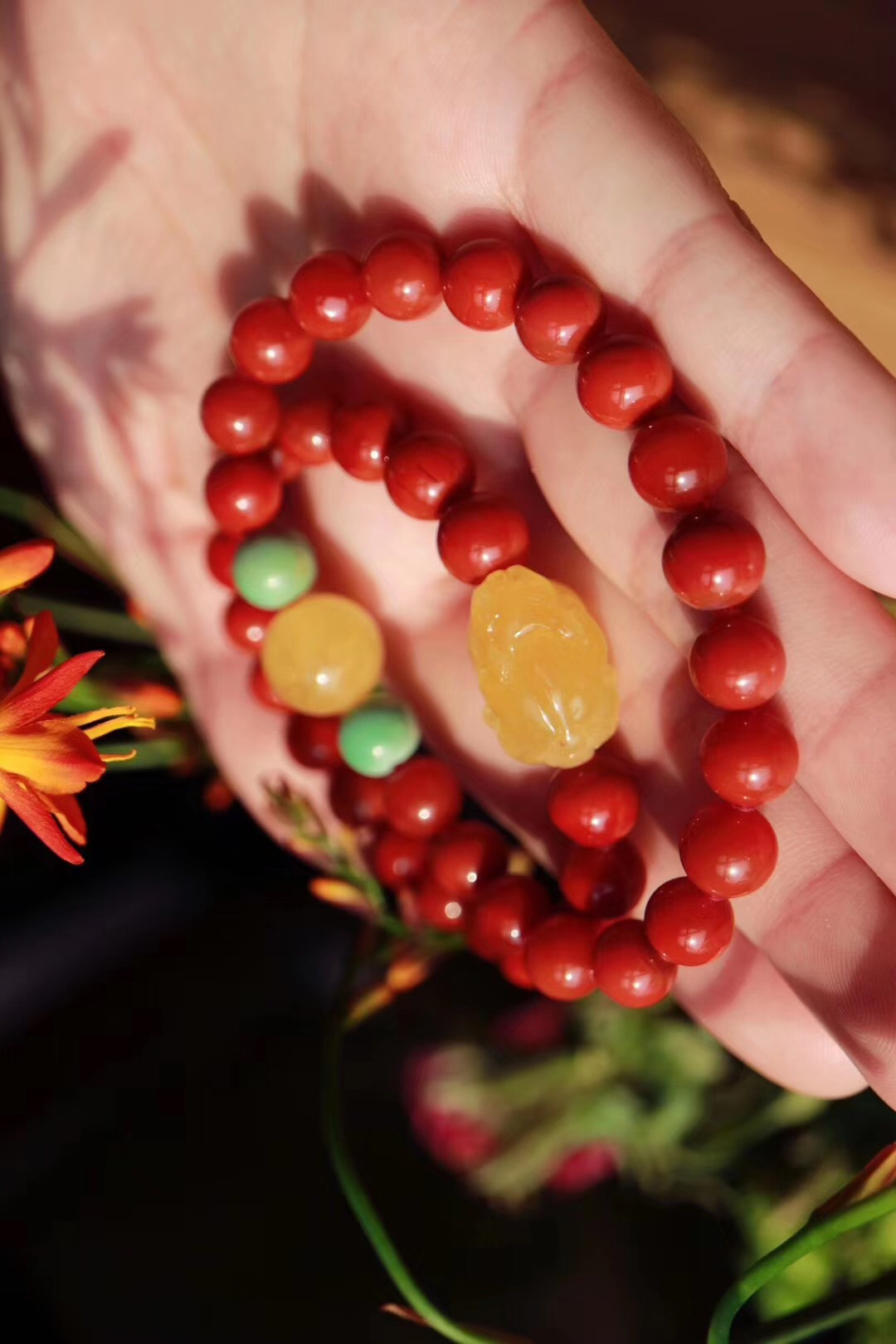 【菩心 | 南红玛瑙】阳光下的南红更具魅力-菩心晶舍