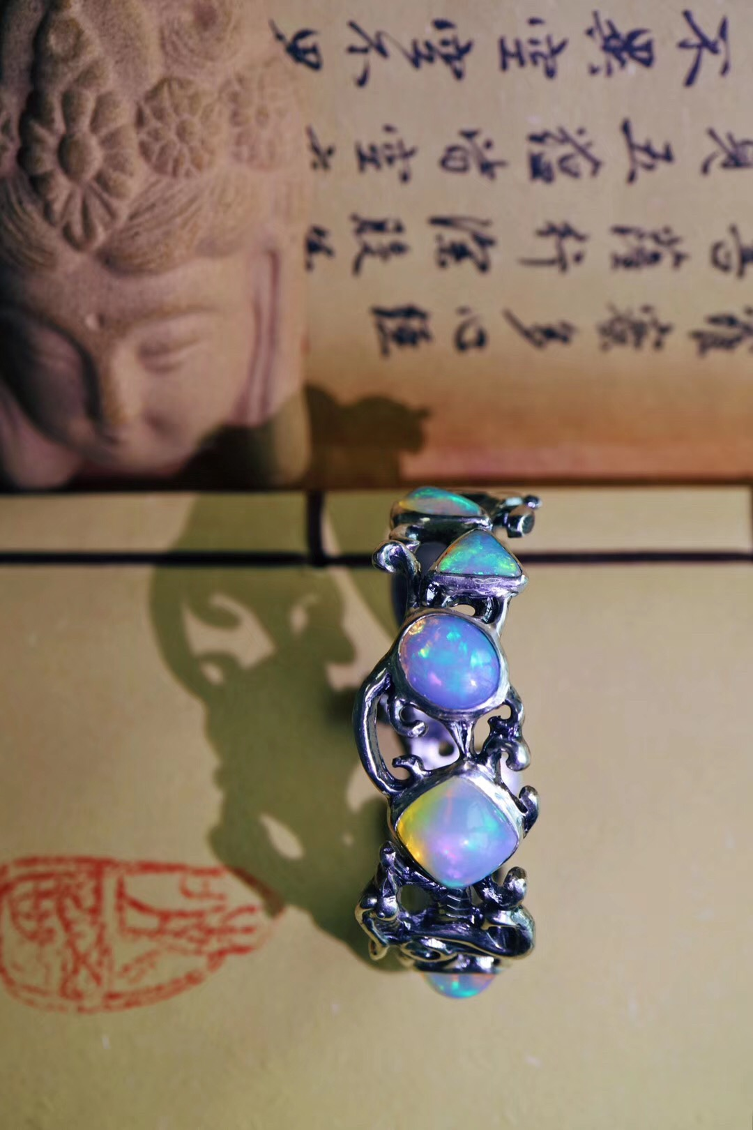 【菩心-收藏级&欧泊石凤凰镯】十户手胼胝,凤凰镯一只。-菩心晶舍