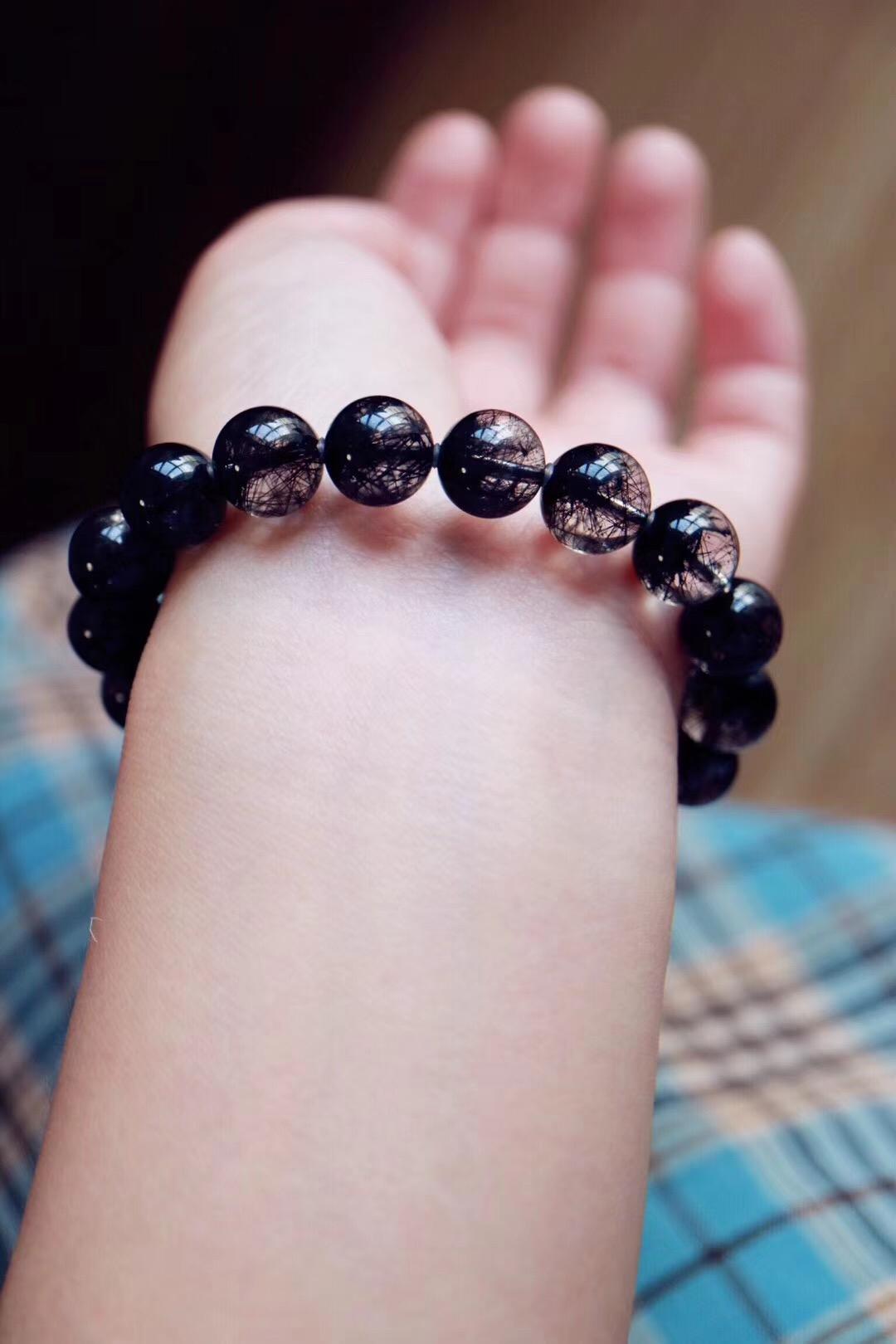 【菩心 | 极品黑发晶】酷酷的黑发晶,适合走气质路线的女子-菩心晶舍
