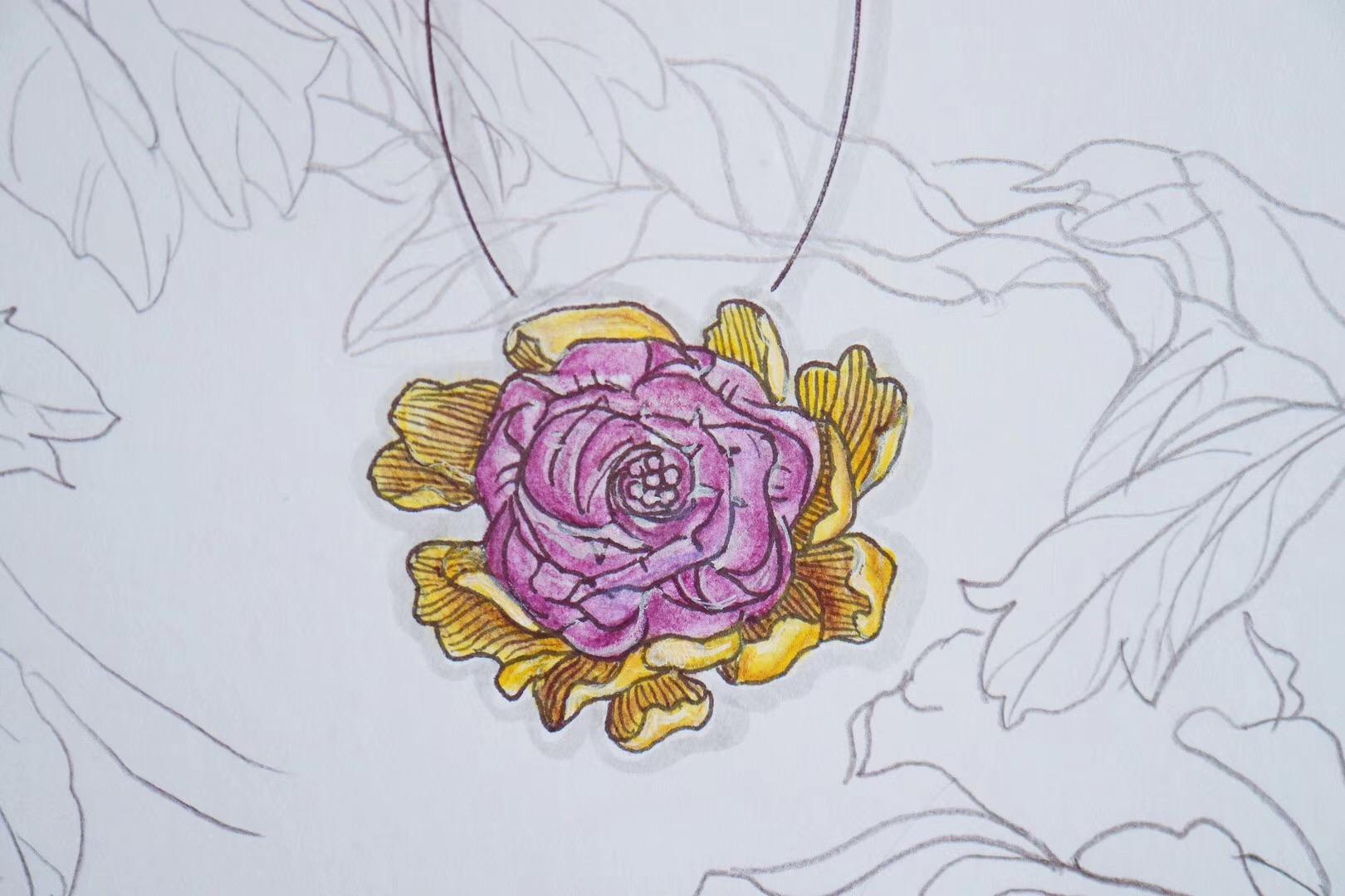【菩心|紫水晶】一朵盛开的紫水晶花,精致的雕工让她灵气绽放-菩心晶舍