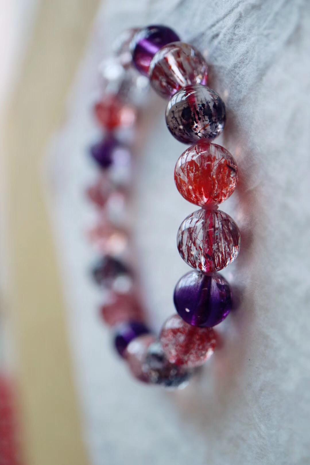 【菩心 | 极品超七紫发晶】紫发晶的高频磁场能够净化心灵-菩心晶舍