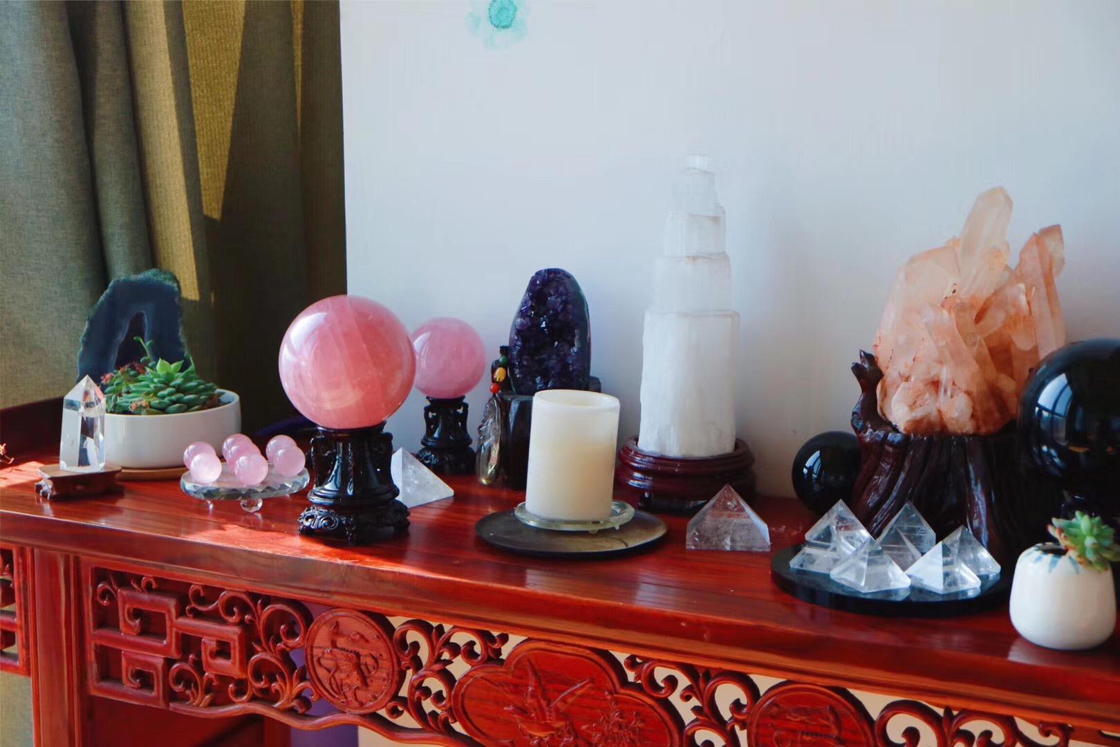 【菩心   粉晶球】粉晶乃是心轮的疗愈基础石-菩心晶舍