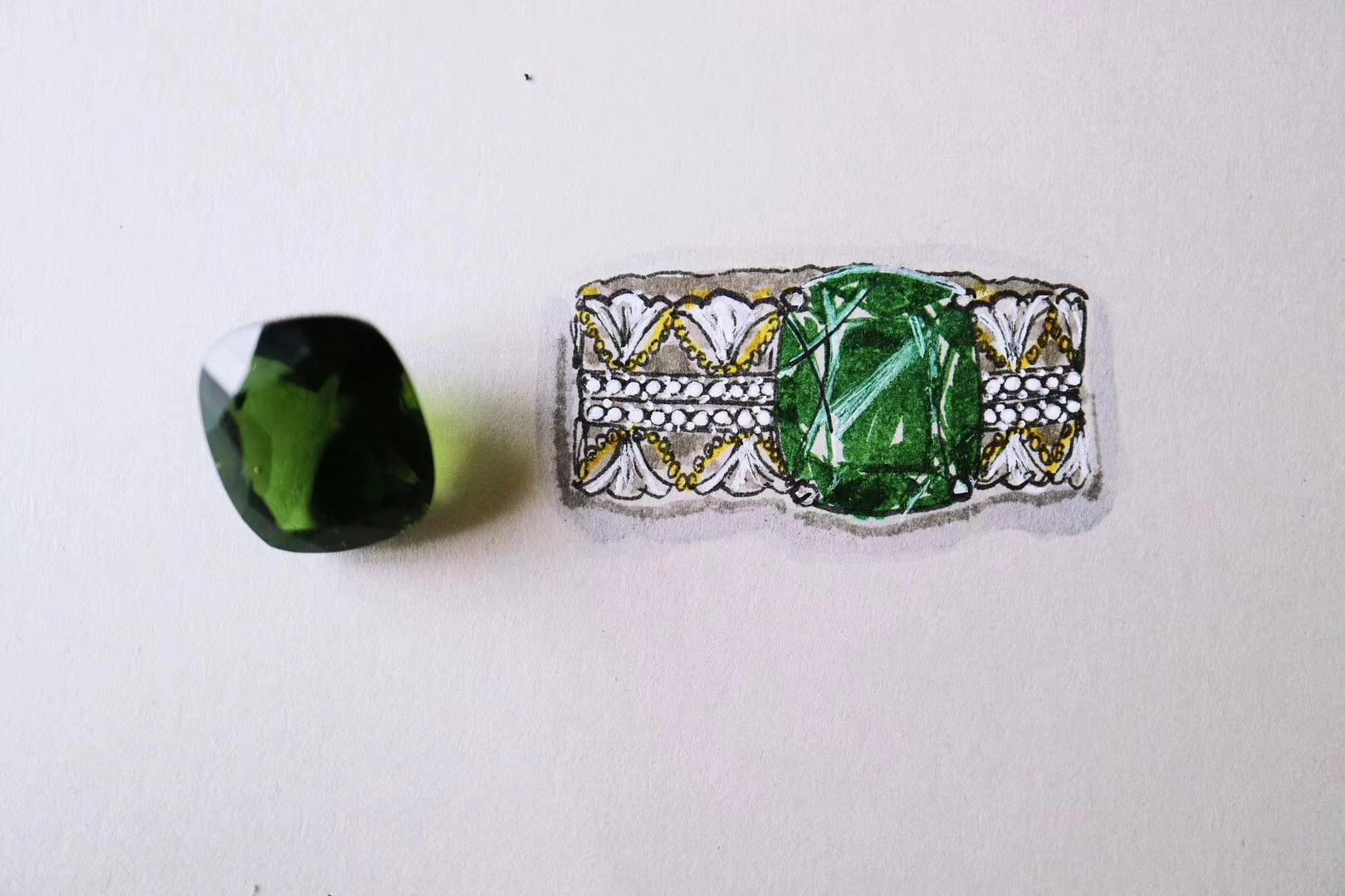 【菩心-捷克陨石、红纹石】是海棠依旧还是绿肥红瘦?-菩心晶舍