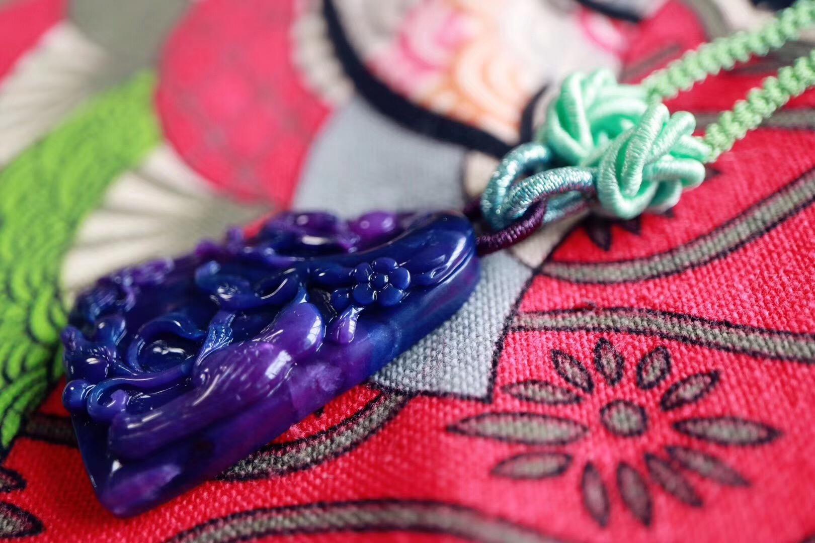 【菩心 | 老料玉化舒俱来】 当皇家紫遇上星际蓝-菩心晶舍