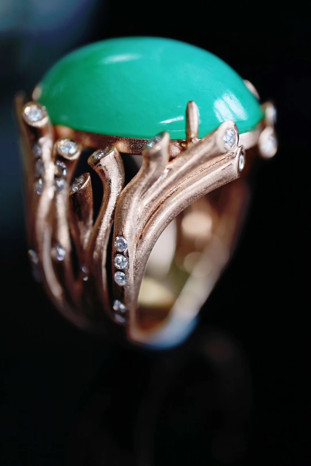 【菩心-🍀翡翠戒指】历时近2月的工期的翡翠&生命戒-菩心晶舍