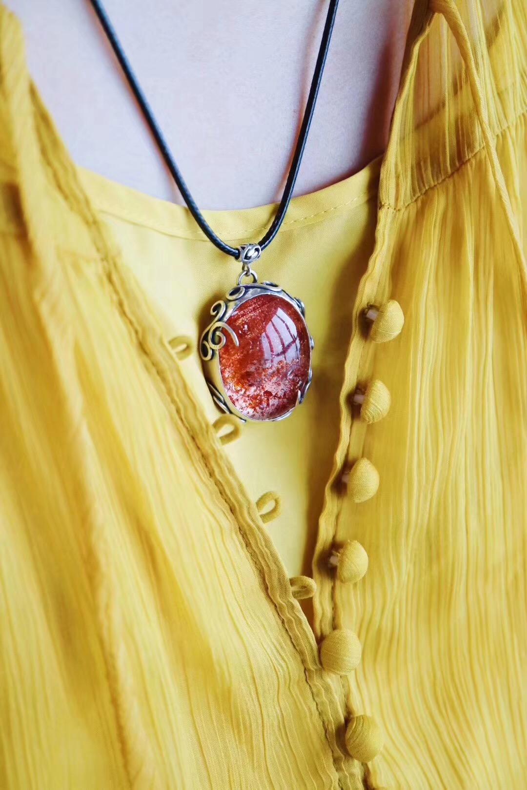 【菩心-金草莓晶】与猫咪毛毛纹路极其相似的顶级金草莓晶-菩心晶舍