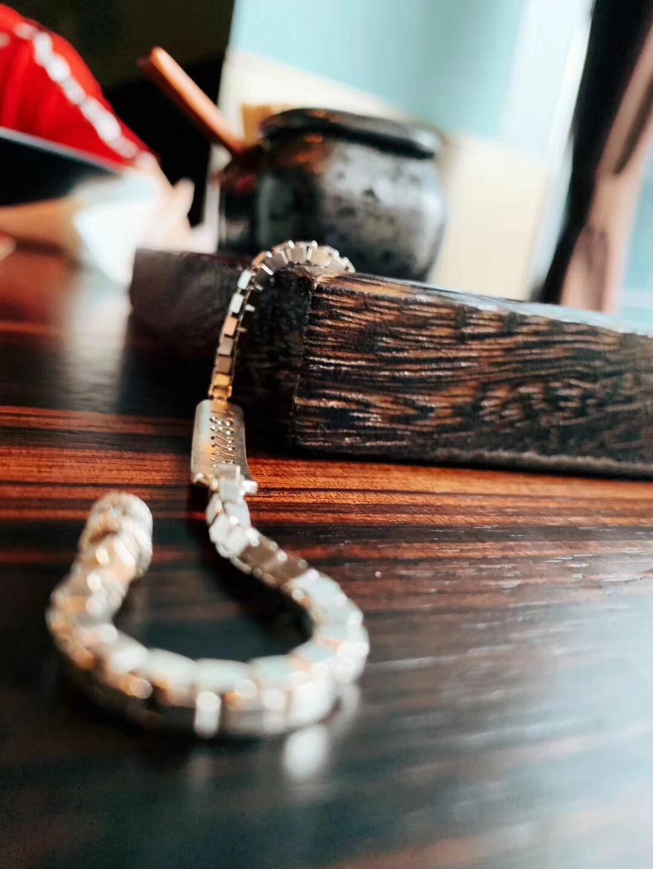 【菩心-银链、老矿青金石】一位长者在菩心定制的防丢手链-菩心晶舍