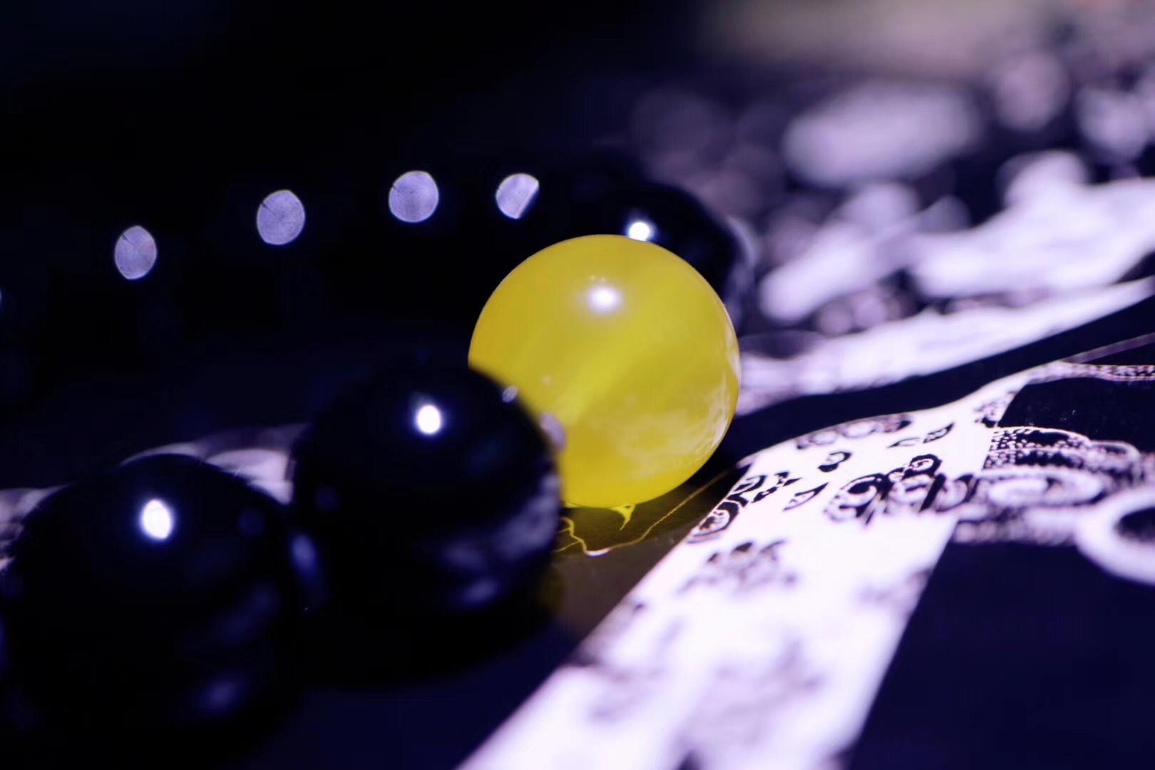 【菩心极品黑曜石   蜜蜡】用黑曜石把身上的黑黑都消灭光~-菩心晶舍