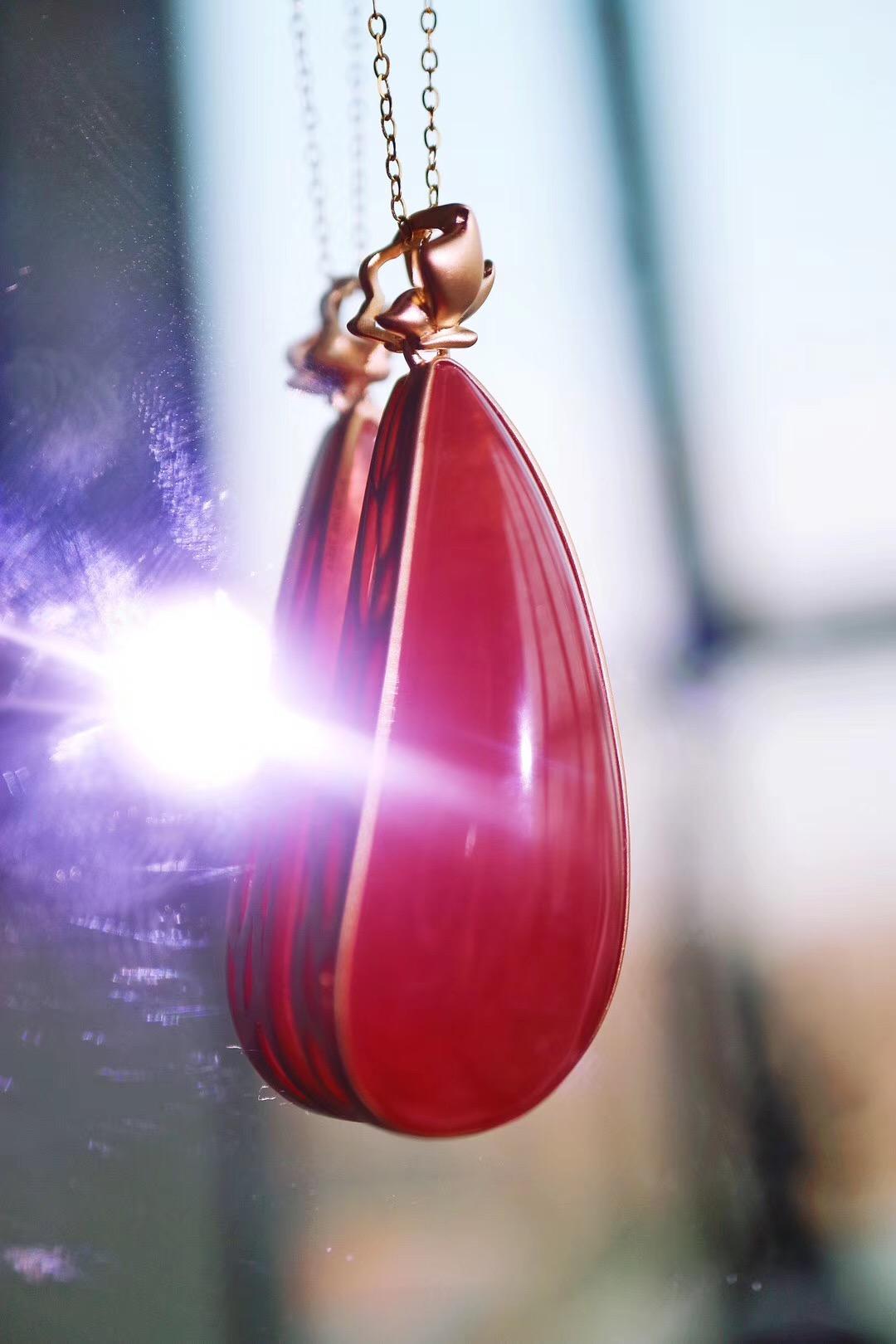 【菩心-红纹石】一枚红纹石坠,可性感,可清心,爱!!-菩心晶舍