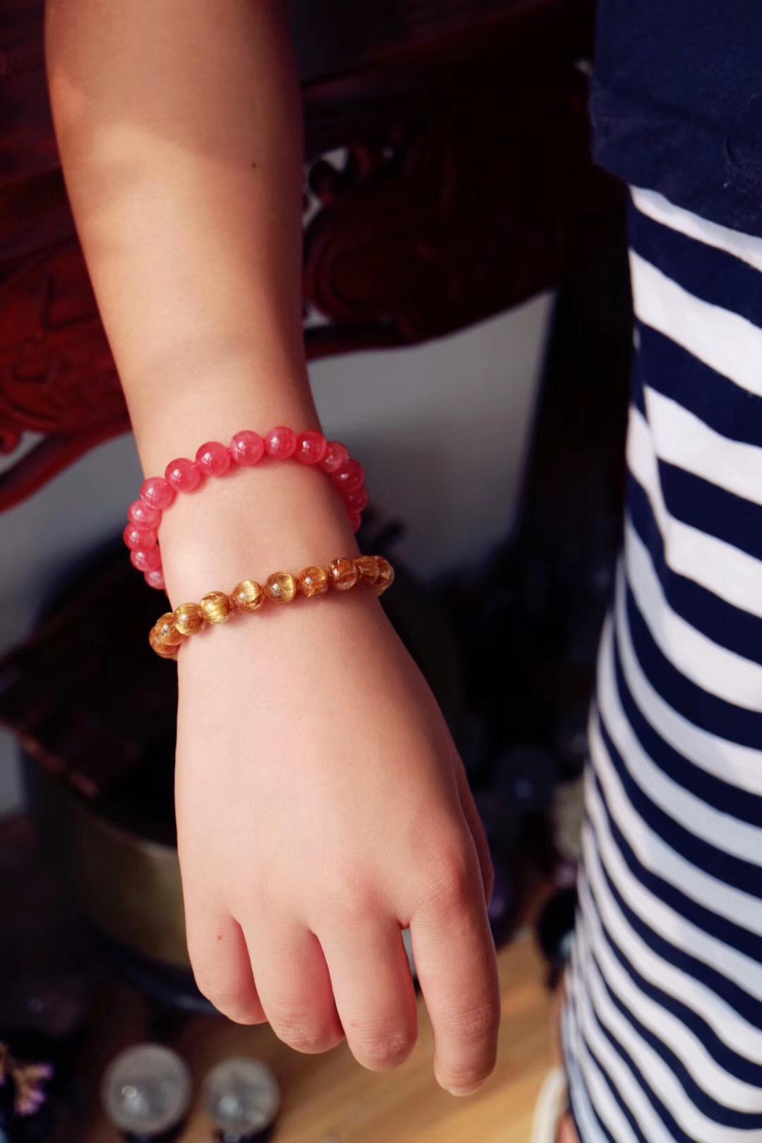 【菩心 | 红纹石&钛晶】一款快速提升爱情+事业运的高频晶石组合-菩心晶舍