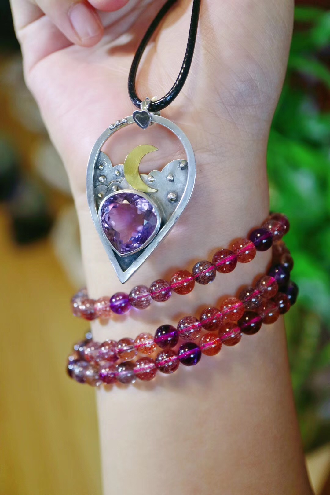 【菩心-紫发晶、紫黄晶】紫发晶(超七)、紫黄晶(晚安款),梦幻且安神-菩心晶舍