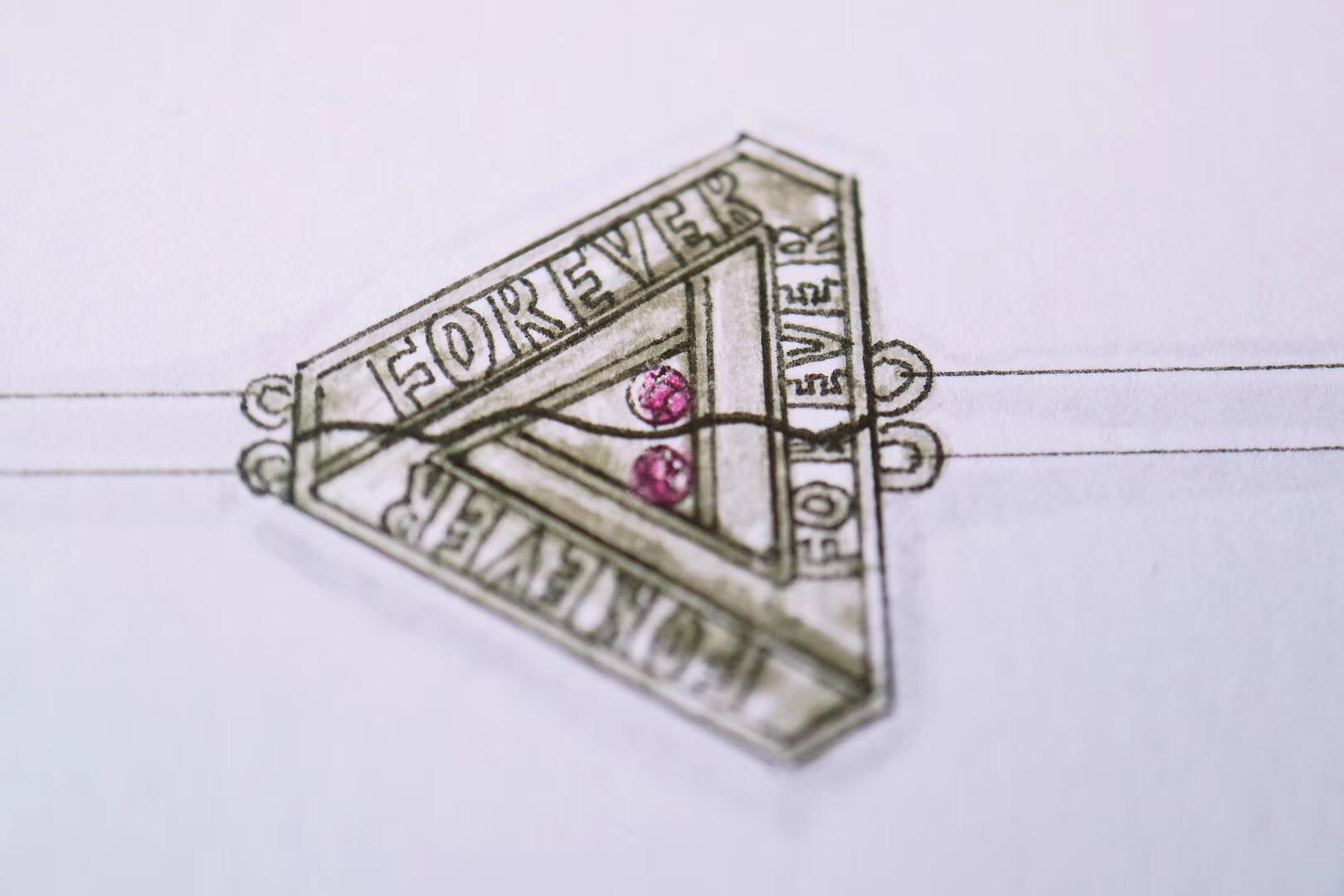 【菩心|手环定制】以铁三角和轮回作为主体,随机切一半,姐妹一人一半-菩心晶舍