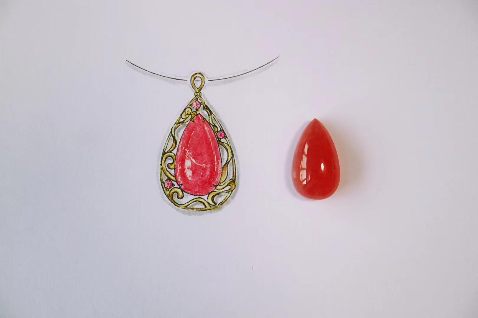 【菩心-红纹石】戴着美美红纹石-菩心晶舍