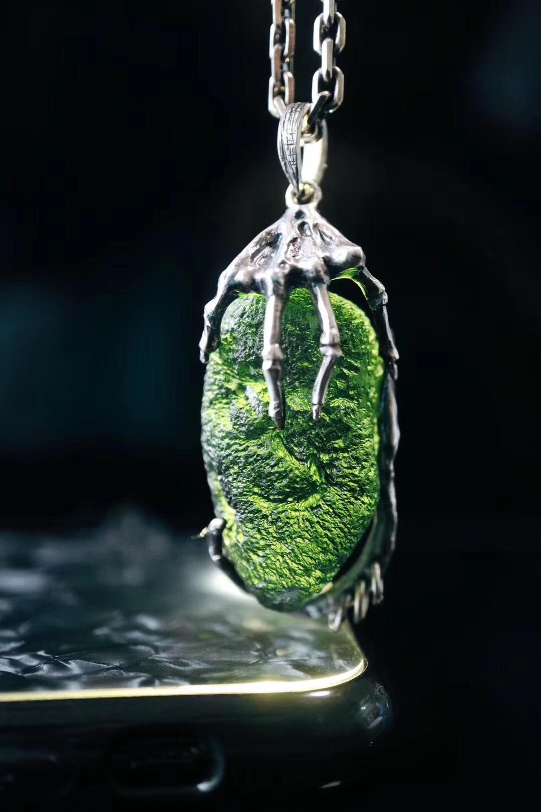 """菩心-捷克陨石,这一款,叫""""抓住生命的真谛""""。-菩心晶舍"""