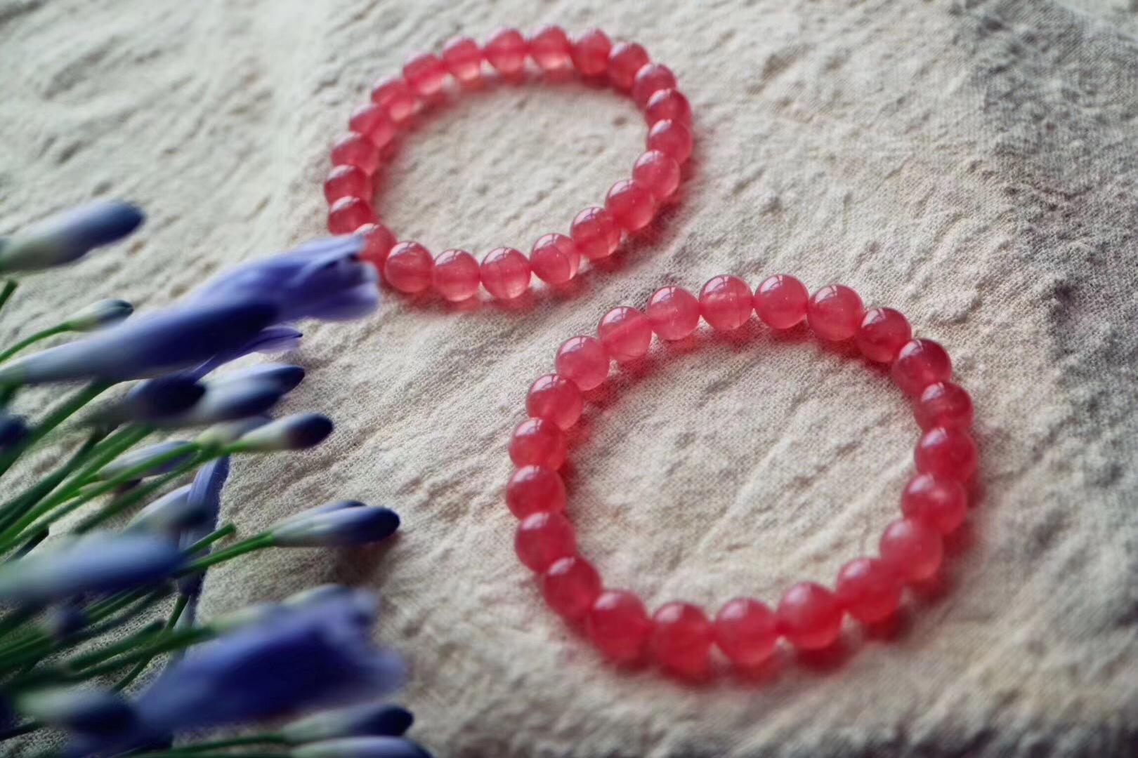 【菩心-欧泊石】有温柔的红纹石和欧泊石细链陪伴,幸福-菩心晶舍