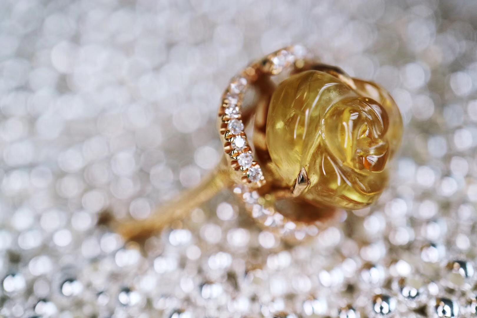 【菩心-碧玺&花花】两枚碧玺小花花戒指,美人速速拿下-菩心晶舍