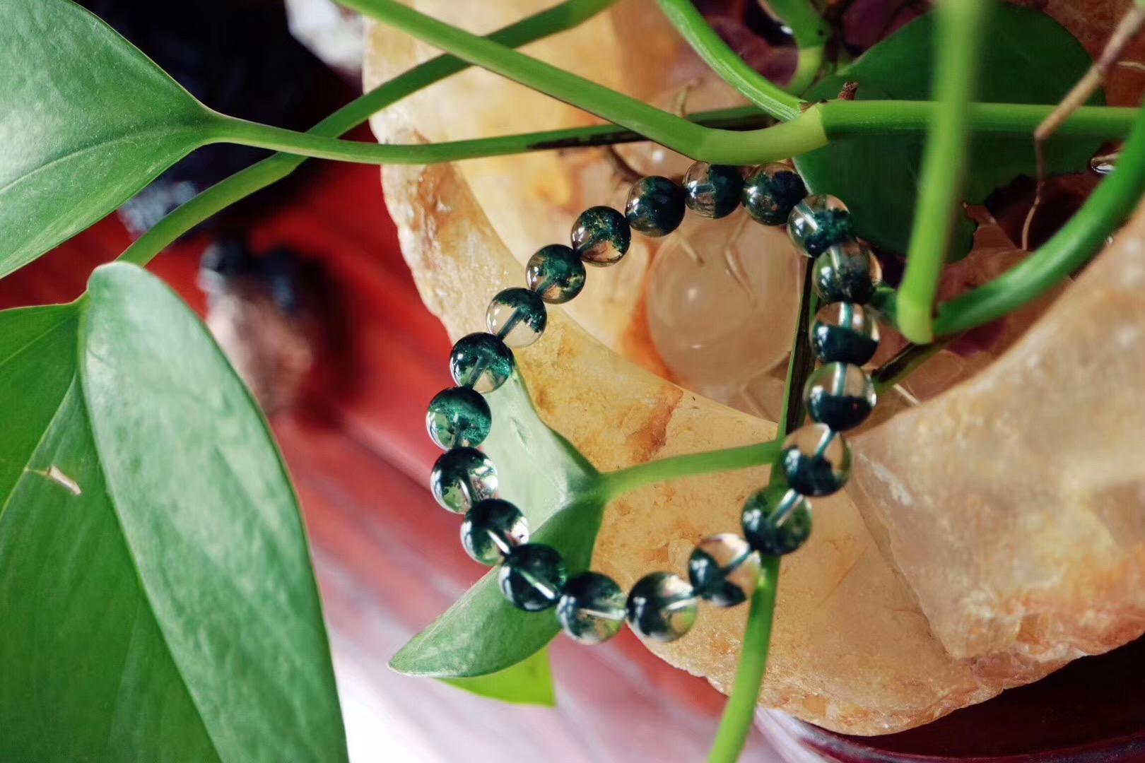 【菩心 | 绿幽灵聚宝盆】墨绿色的绿幽灵疗愈心轮效果极佳-菩心晶舍