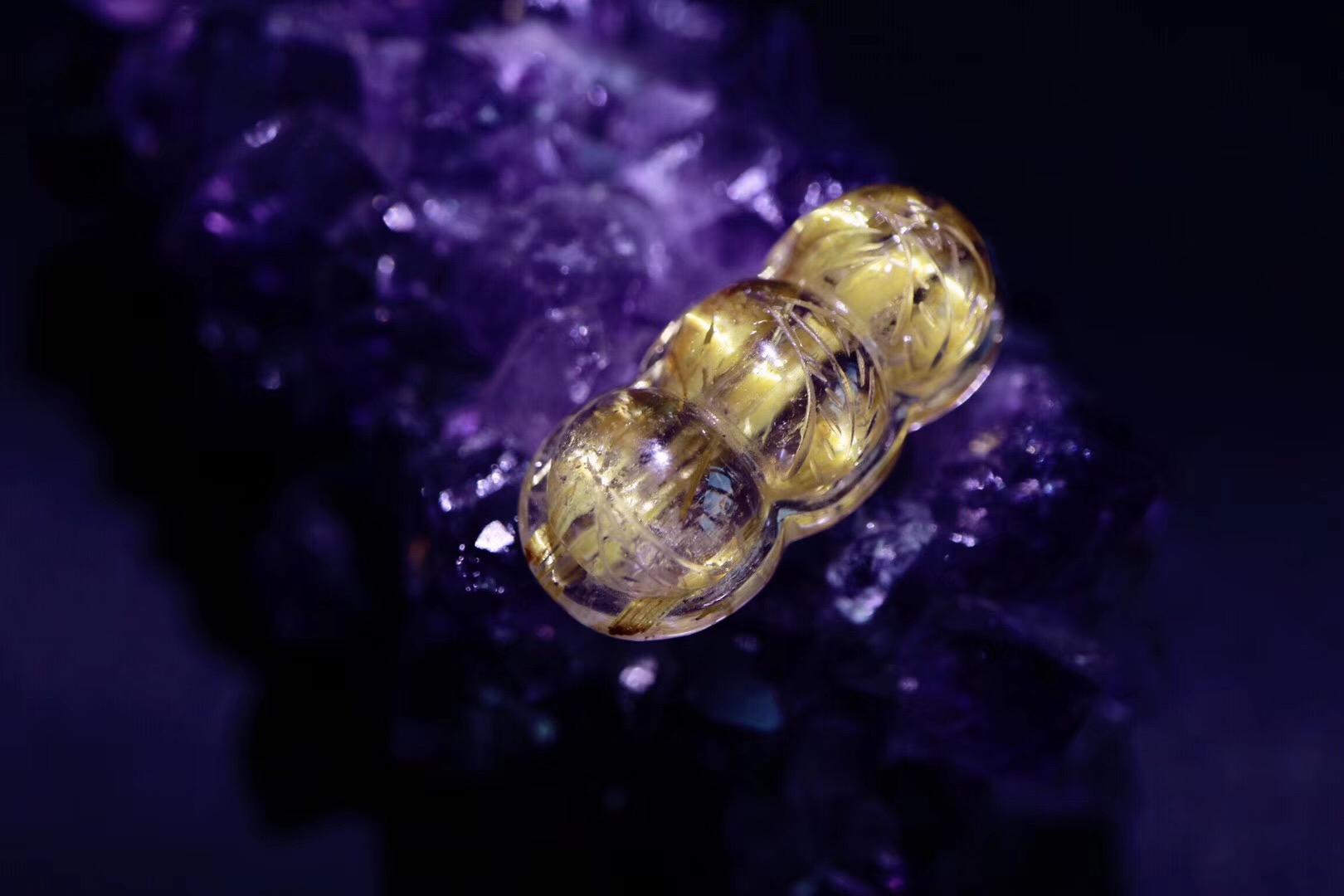 【菩心 | 钛晶】 几只金光闪闪的小福豆,福气满满-菩心晶舍