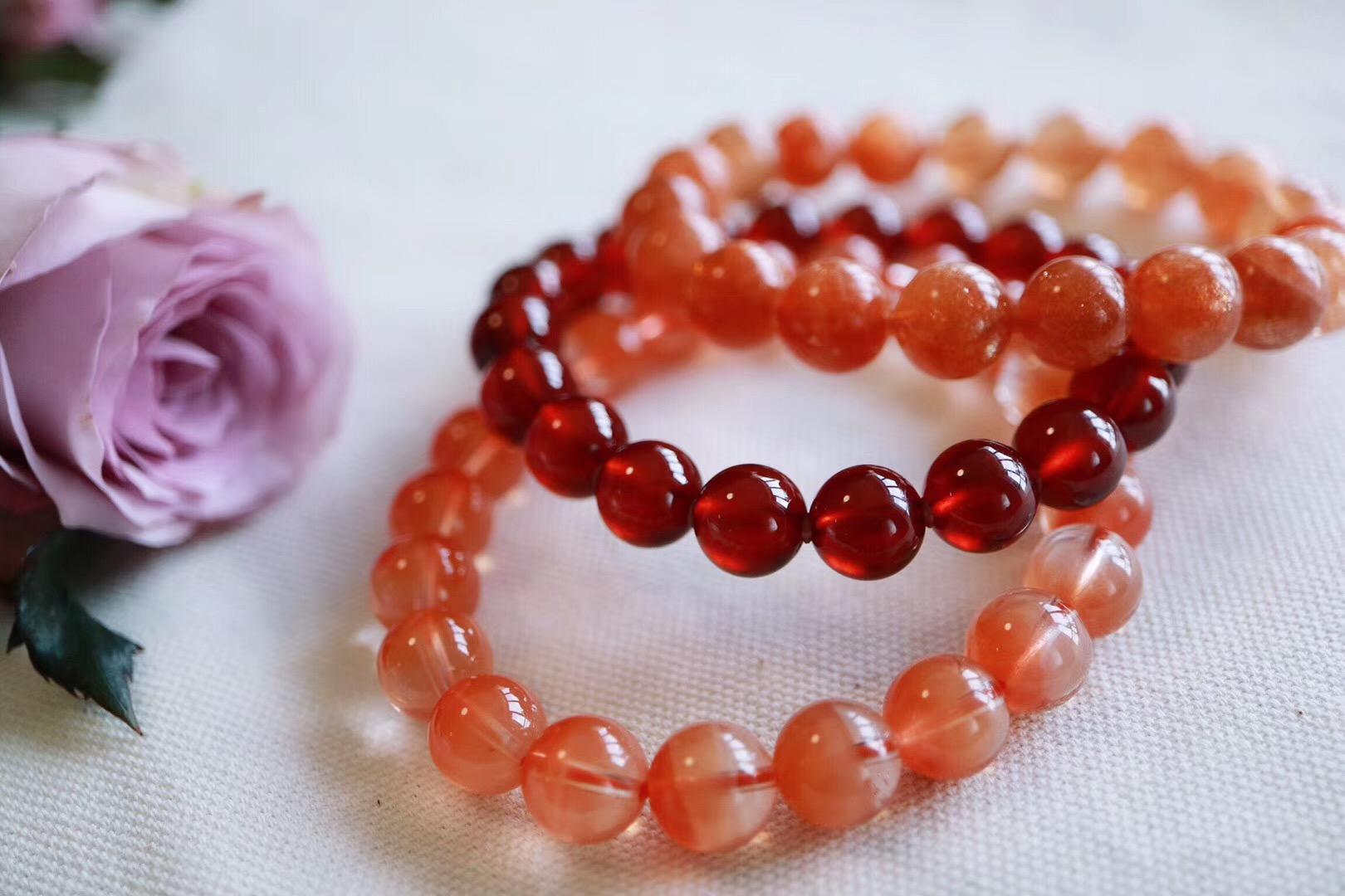 【菩心 | 脐轮晶石】橙红石榴石,红兔毛,太阳石调理脐轮-菩心晶舍