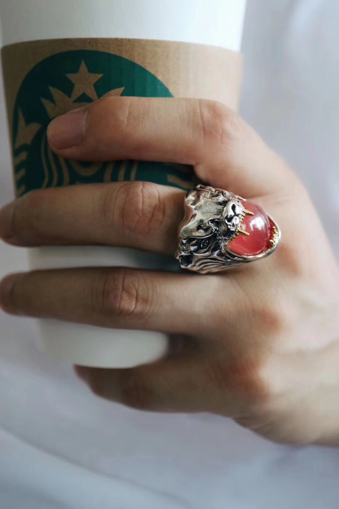 【菩心-高订红纹石戒】来自指间淡淡的温柔-菩心晶舍