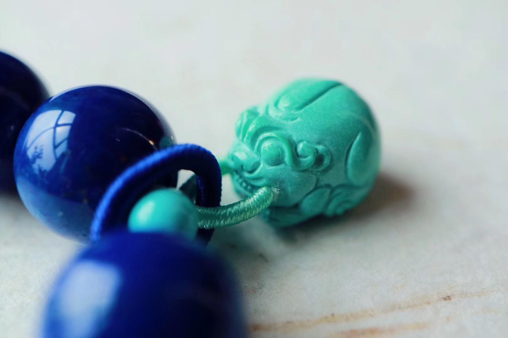 【菩心 | 老矿青金石】青金石的高等级多宝,有助于稳定情绪-菩心晶舍