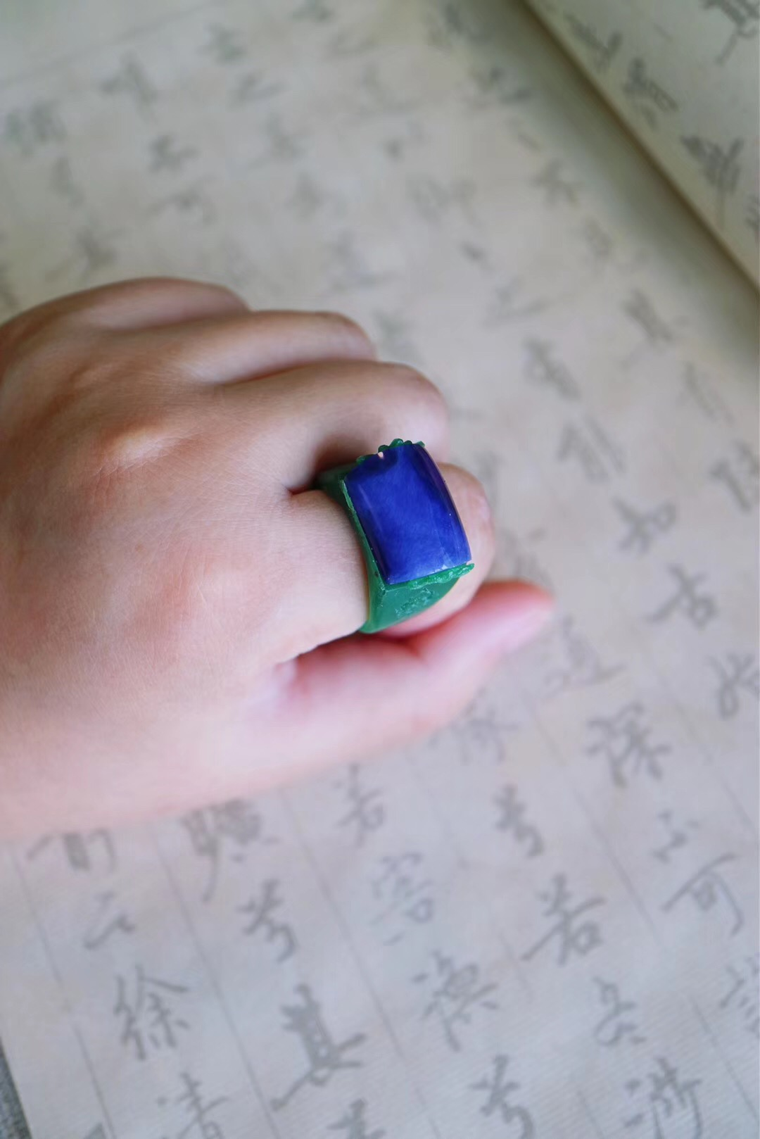 【舒俱来】福气奶奶的霸气莲花舒俱来戒指-菩心晶舍