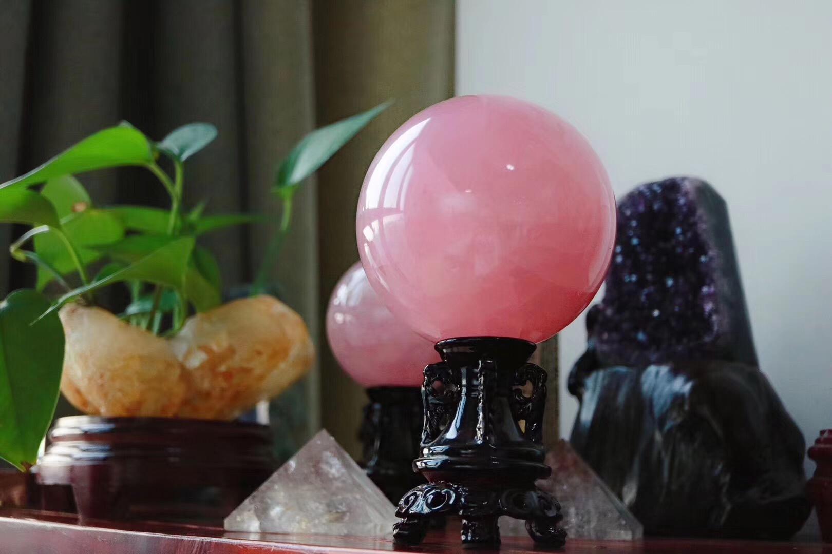 【粉晶球】原来爱与恨,也可以云淡风轻-菩心晶舍