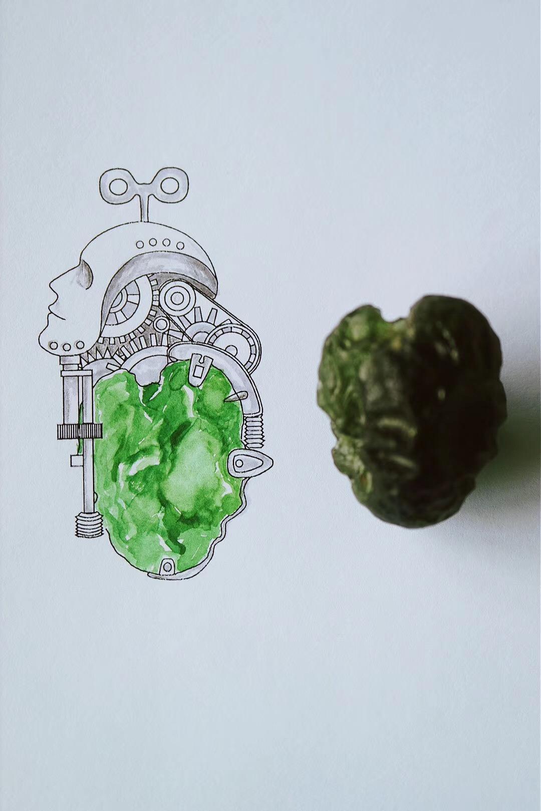 【捷克陨石】我们一生在找的路,就是脑子到心的路-菩心晶舍