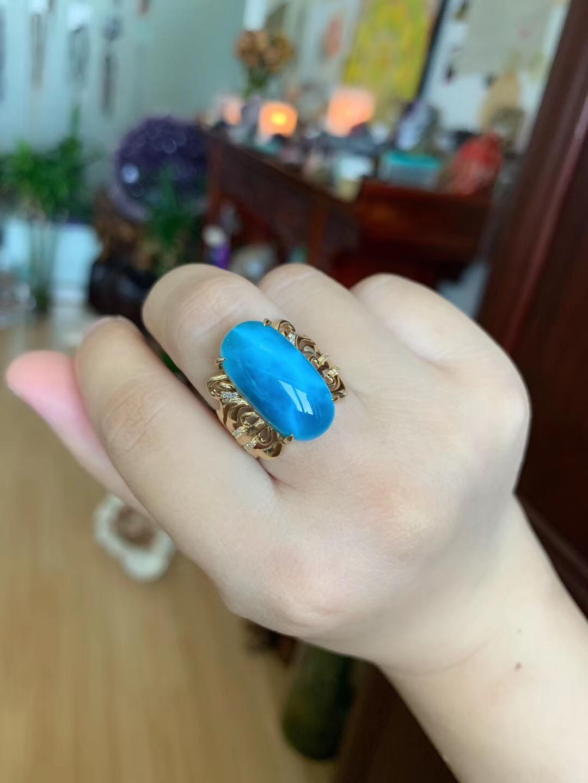 【海纹石&客订】这一枚海纹石戒,戴上它,眠可深,梦可远-菩心晶舍