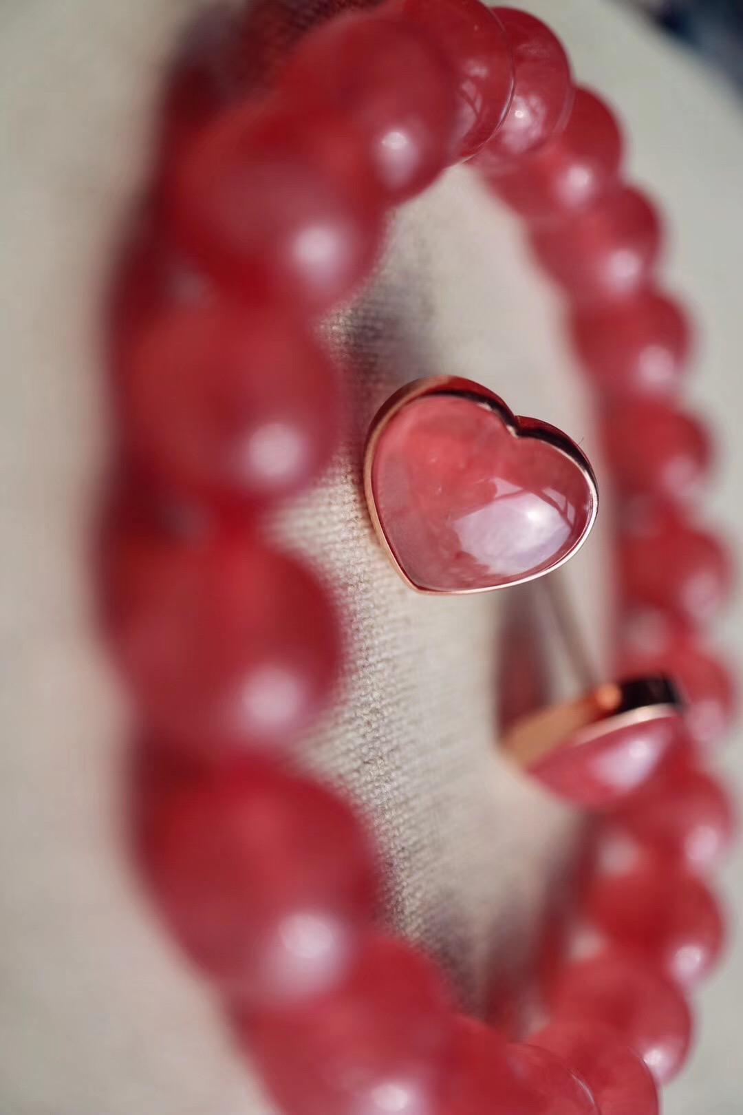 【冰种红纹石】 去爱值得爱的人,去忘不该记的事~~-菩心晶舍