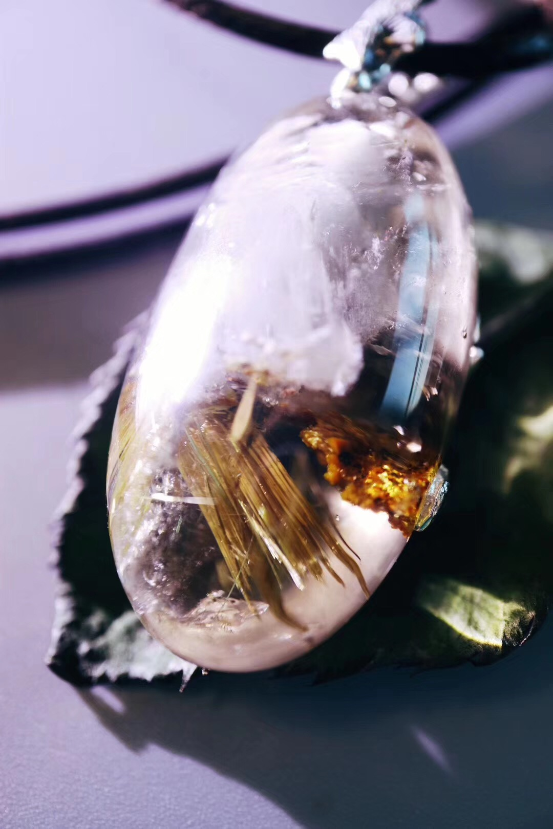 【钛晶】钛晶和白幽灵山共生,很特别-菩心晶舍