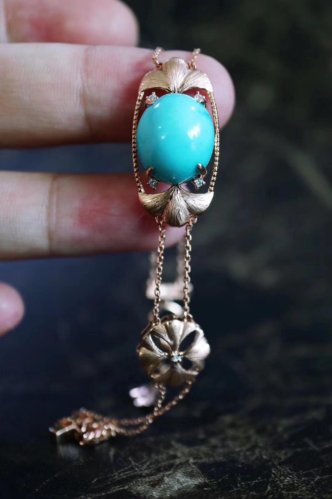 【菩心-绿松石、老山檀】我喜欢这样的复古调-菩心晶舍